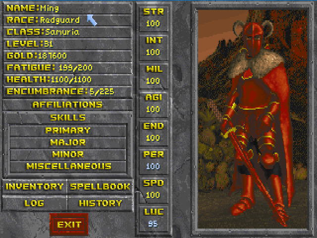 Classic Character Screen